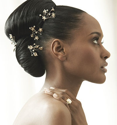 Wedding Hairstyles for Black Women - Swept and Sparkly