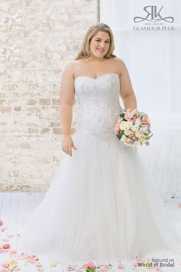Glamour Plus Collection : Roz la Kelin 2015 Plus-Size Wedding Dresses