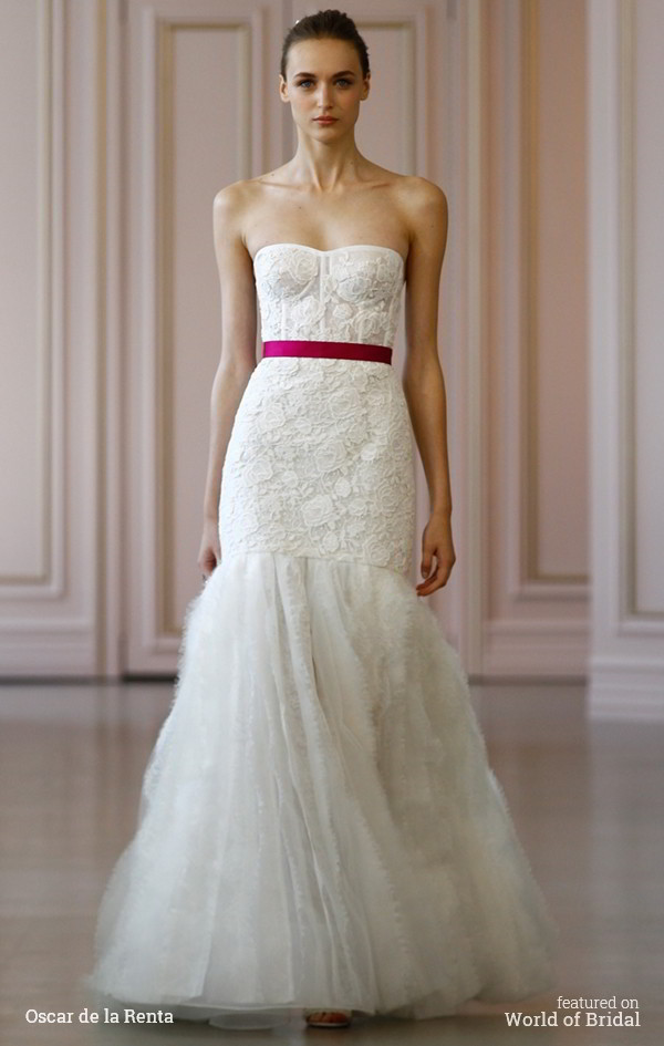 Oscar de la Renta Spring 2016 Wedding Dress