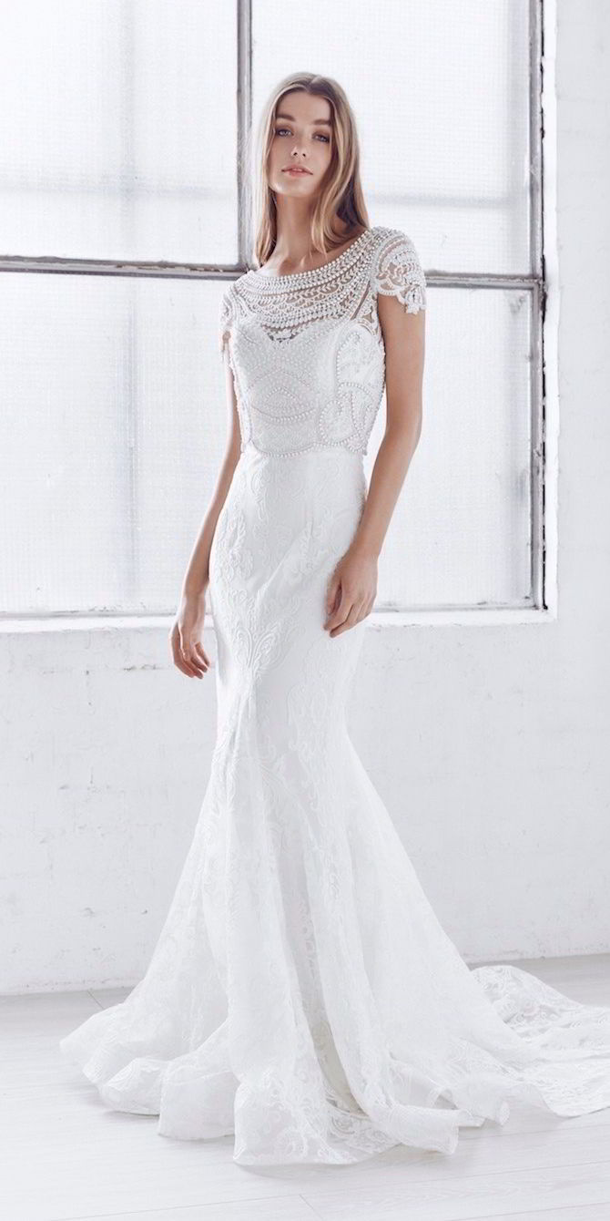 Anna campbell 2017 39ceremony39 bridal collection world of for Anna campbell wedding dress usa