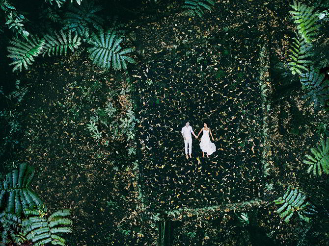 Fall In Love With Drone Wedding Photography