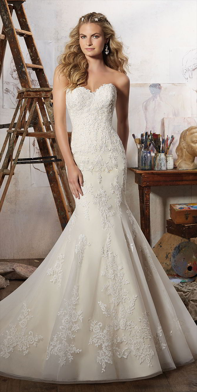 Mori Lee by Madeline Gardner Spring 2017 Mermaid Wedding Dress