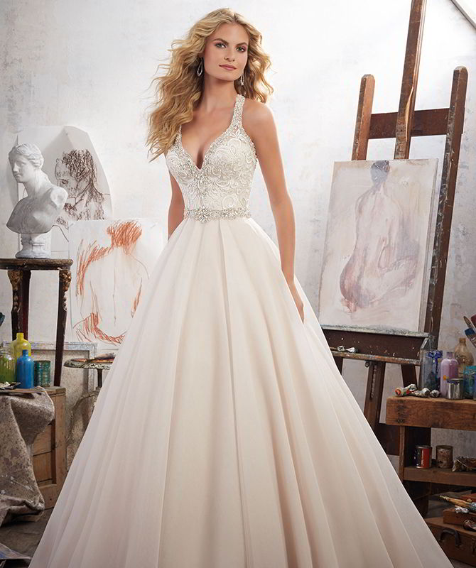 Mori Lee by Madeline Gardner Spring 2017 Romantic Bridal Ball gown