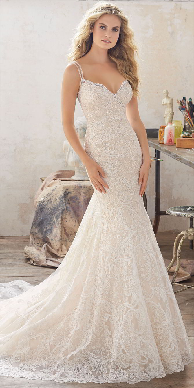 Mori Lee by Madeline Gardner Spring 2017 Romantic Wedding Dress