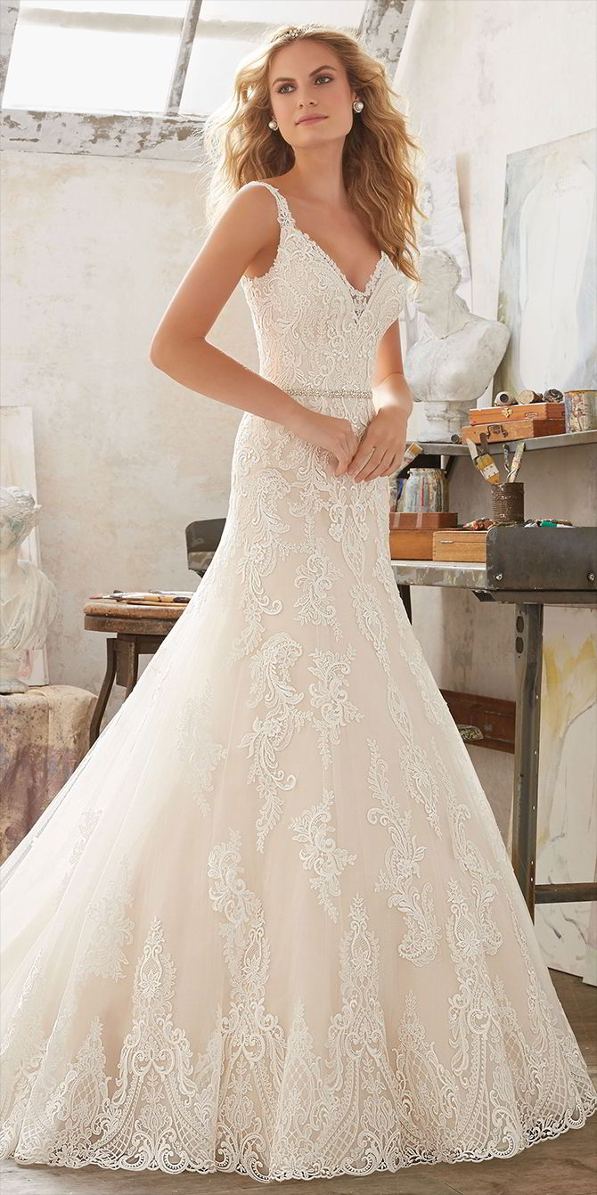 Mori Lee by Madeline Gardner Spring 2017 Timeless Bridal Gown
