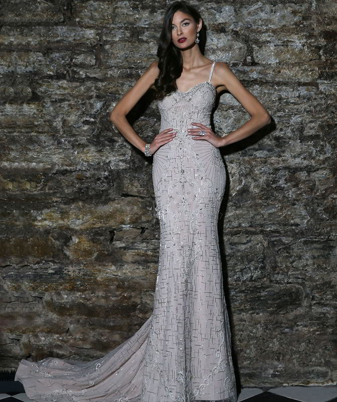 Victor Harper Couture Spring 2017 Fully beaded fit and flare gown