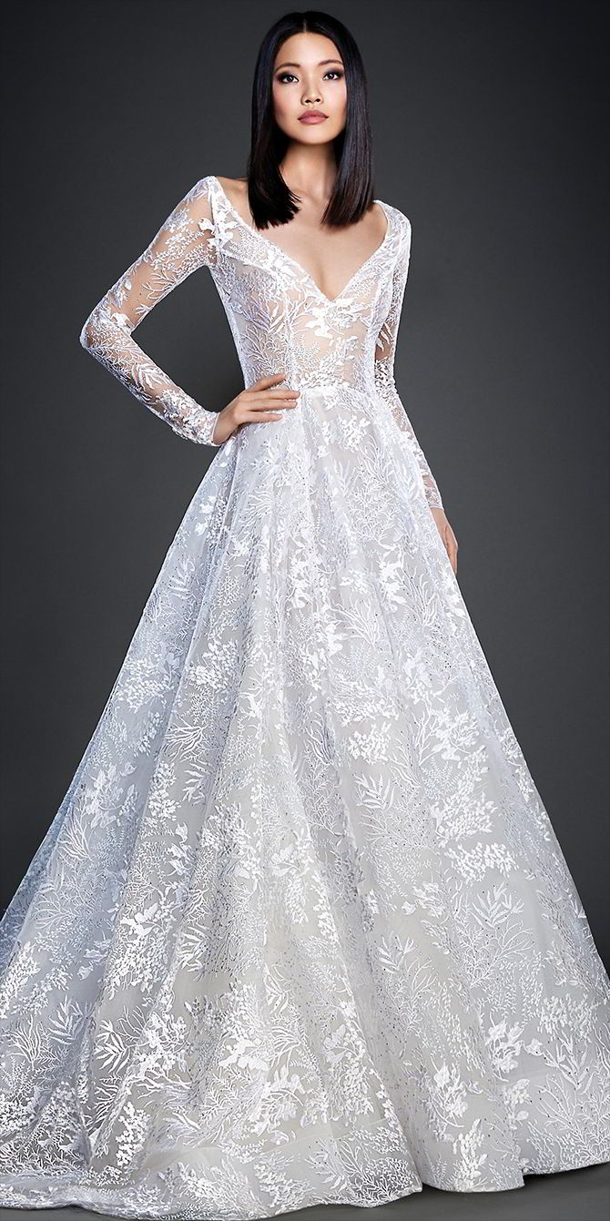 Lazaro spring 2017 wedding dresses world of bridal for Crystal embroidered wedding dress