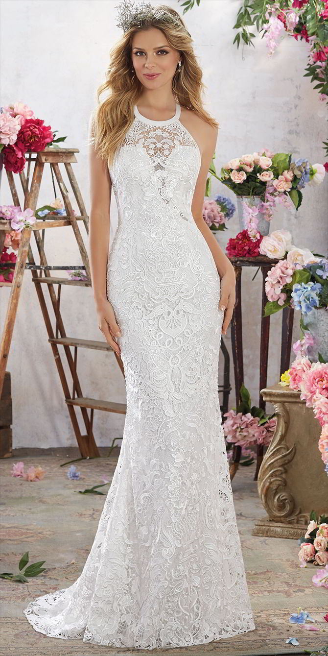 Voyage by Madeline Gardner Spring 2017 Gorgeous Sheath Wedding Dress