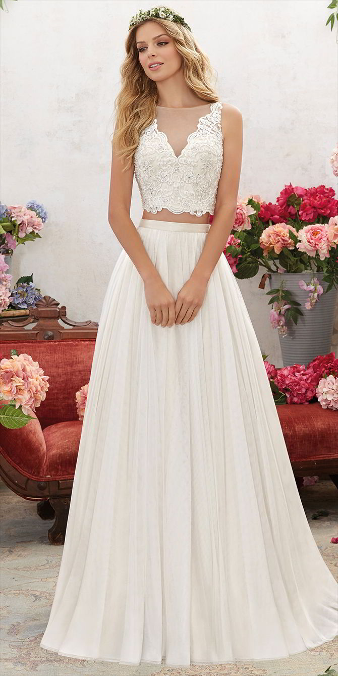 Voyage by Madeline Gardner Spring 2017 Two-Piece Wedding Dress