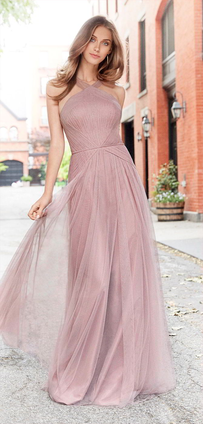 Hayley paige occasions fall 2017 bridesmaids dresses world of bridal hayley paige occasions fall 2017 dusty rose english net a line bridesmaid gown ombrellifo Choice Image