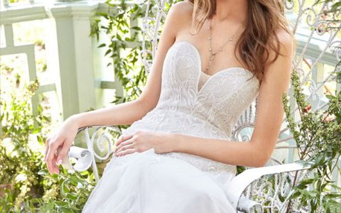 Ti Adora By Allison Webb Fall 2017 embroidered trumpet bridal gown