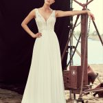 Mikaella Spring 2018 Lace and Mesh Tulle Wedding Dress