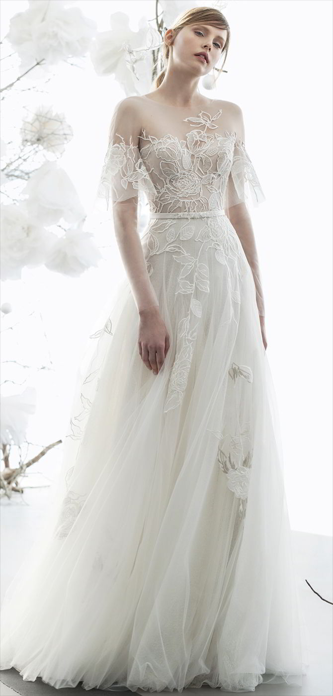 Mira zwillinger 2018 wedding dresses world of bridal for Flutter sleeve wedding dress