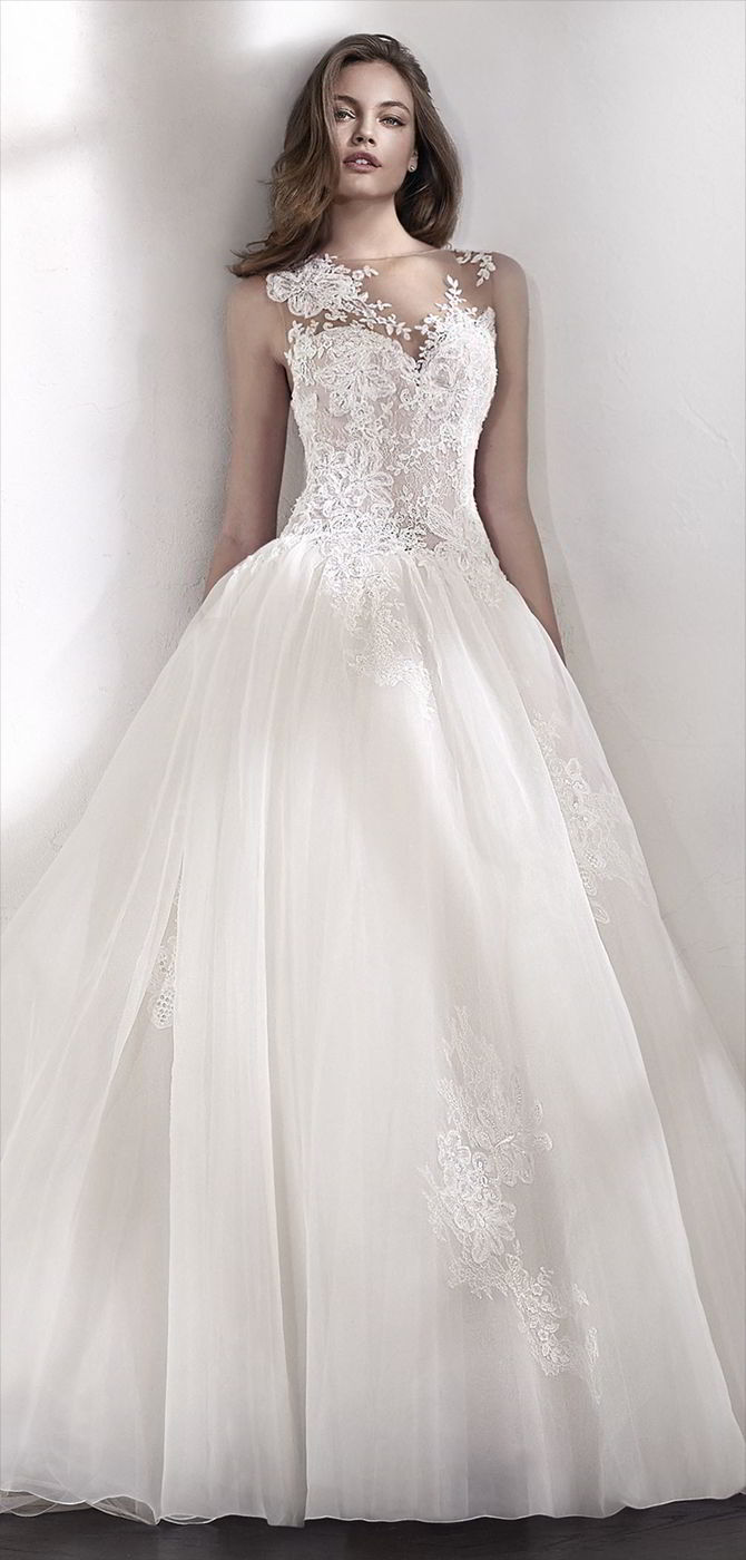 San Patrick 2018 Marvelous and very romantic ballgown wedding dress