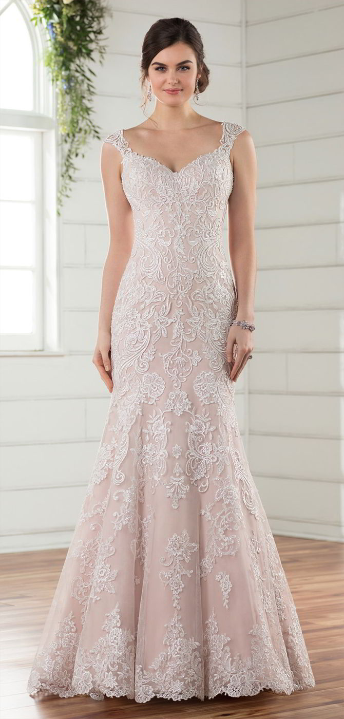 Silver Lace Wedding Gown