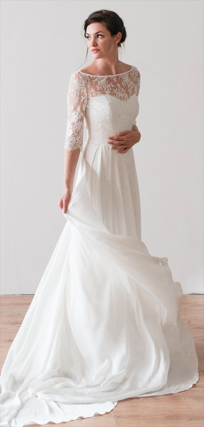 Naomi neoh 2017 wedding dresses world of bridal naomi neoh 2017 a flowing silk satin chiffon dress with french lace bodice ombrellifo Images