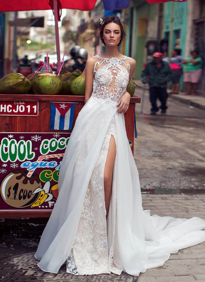 Lorenzo Rossi 2018 bridal dress with gorgeous detailing
